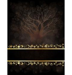 Tree banner vector