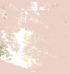 trendy floral gold foil patina blush background vector image