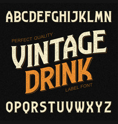 Vintage drink label font ideal for any design in vector