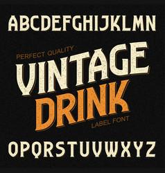 Vintage drink label font ideal for any design in vector