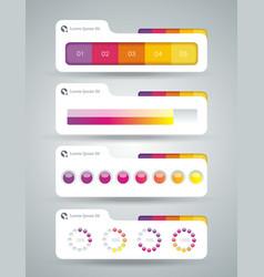 Web panel widget design for upload services or vector