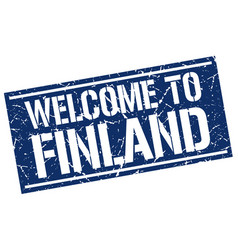 Welcome to finland stamp vector