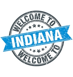 Welcome to Indiana blue round vintage stamp vector