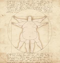 Conceptual modern vetruvian man basis of artwork vector