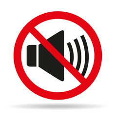 no sound sign on white background vector image