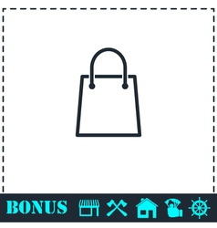 Pack icon flat vector image