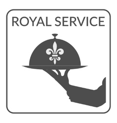 royal service sign vector image