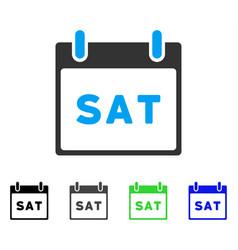 Saturday calendar page flat icon vector