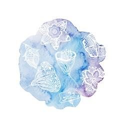 Watercolor flower card vector image vector image