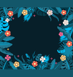 frame with tropical jungle leaves vector image vector image