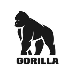 gorilla monochrome logo vector image vector image