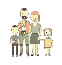 happy family of a flat design vector image vector image