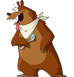 hungry bear vector image vector image