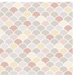 moroccan seamless pattern fish scale tiles vector image