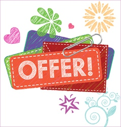 offer card vector image vector image