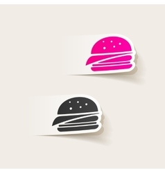 realistic design element sandwich vector image