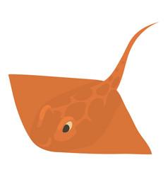 stingray icon cartoon style vector image