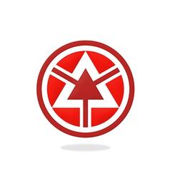 triangle round arrow logo vector image vector image