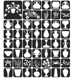 vase and flowers vector image
