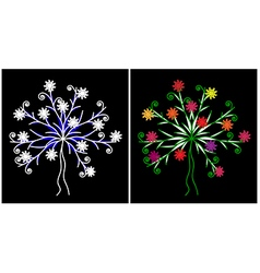Spring and winter tree vector image vector image