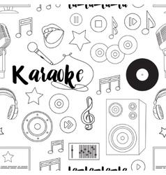 Theme of karaoke pattern vector image vector image