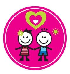 children sticker vector image