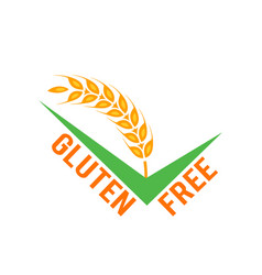 gluten free symbols isolated on white vector image
