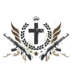 grunge gang design vector image