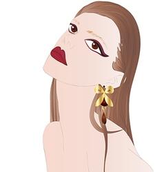 Portrait of beautiful brunette vector image vector image