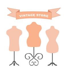 set of mannequins manikins for tailors designers vector image