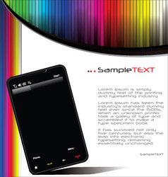 smartphone background vector image vector image