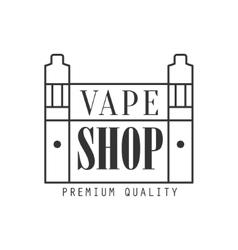 Vape shoping premium quality vapers club vector
