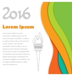 2016 Olympics brochures with abstract background vector image