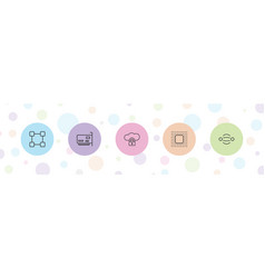5 connect icons vector