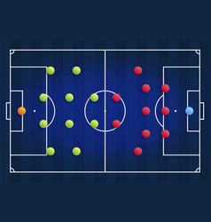 a blue cyber football field with a tactical vector image