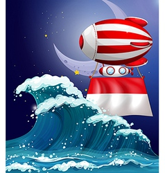A floating balloon with the flag of Monaco vector