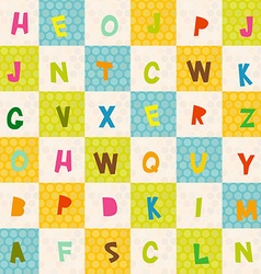 alphabet from A to Z seamless pattern Polka dot vector image