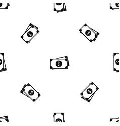 american dollars pattern seamless black vector image