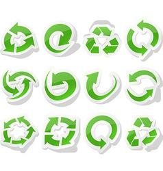 Arrow green stickers vector image
