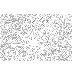 Art for adult coloring book with fantasy pattern vector