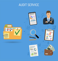 auditing and accounting banner vector image