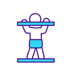Baby stand up rgb color icon vector