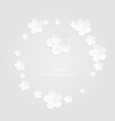 background with decorative white round vector image