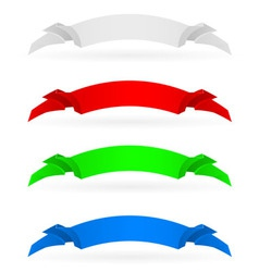 banners set number four on white background for vector image