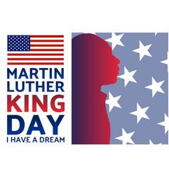 Birthday martin luther king jr mlk day vector