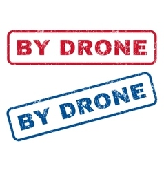 By drone rubber stamps vector