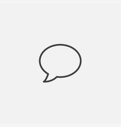 chat bubble ivon vector image