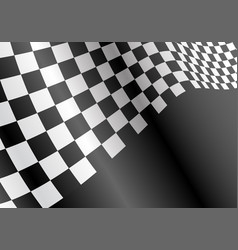 Checkered flag flying wave on black sport race vector