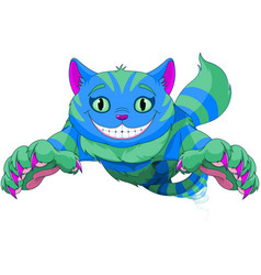 cheshire cat jumping vector image
