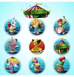 Circus clip art set vector